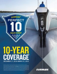 EVINRUDE PERFECT 10 SALES EVENT AT ANCHOR MARINE - 10 Year Coverage on Evinrude Engines