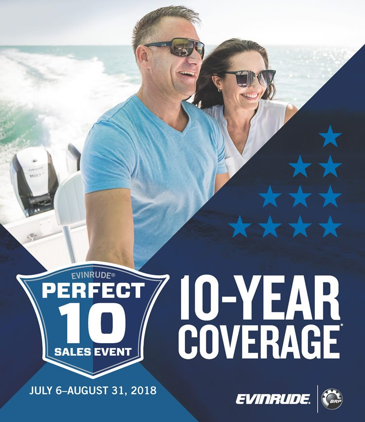 Evinrude 10 Year Coverage Sales Event