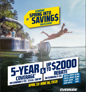 Evinrude's Spring Into Summer Savings