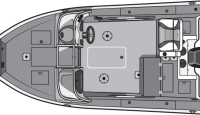 Smoker Craft 182 Pro Mag Aluminum Fishing Boat - Floor Plan