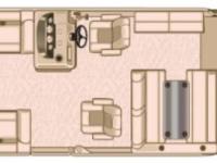 Sylvan Mirage 8524 DLZ Tri-Toon Pontoon Boat - Floor Plan