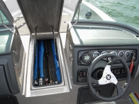 Warrior V1898 DC Fishing Boat - Center Rod Storage